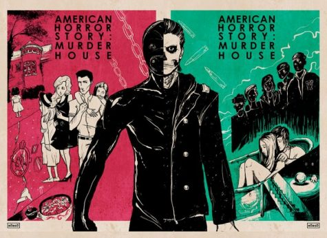 Pop art done by Roberto Sanchéz for the first season of American Horror Story.