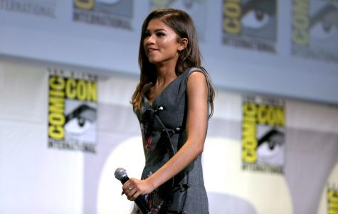 Zendaya sits on a panel at Comic Con for Spiderman: Homecoming, a year before filming for Euphoria.