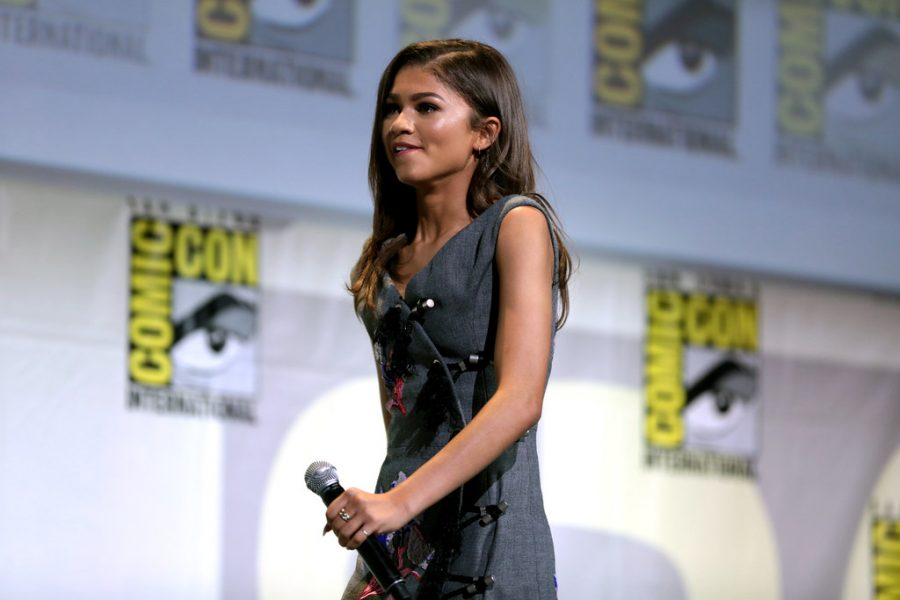 Zendaya+sits+on+a+panel+at+Comic+Con+for+Spiderman%3A+Homecoming%2C+a+year+before+filming+for+Euphoria.