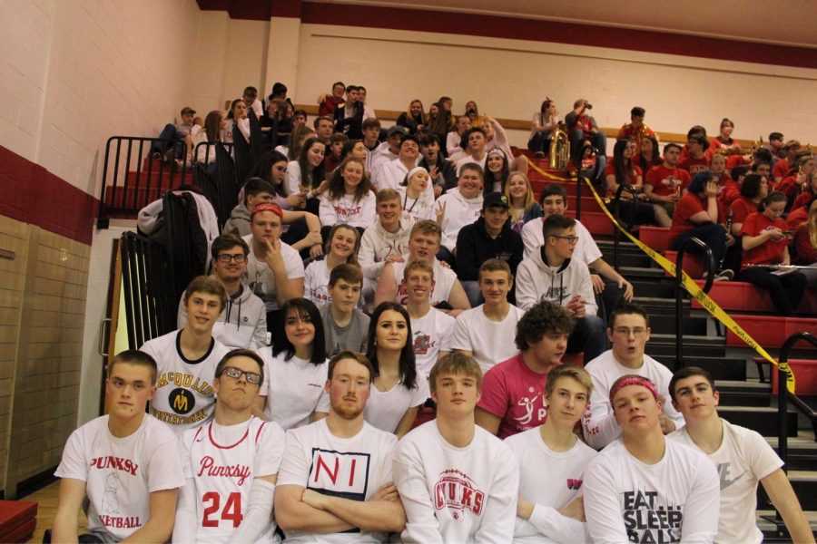 The student section during last year