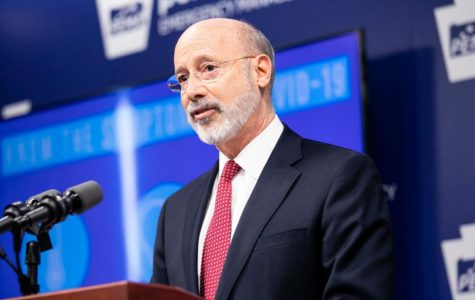 Gov. Tom Wolf announces the closure.