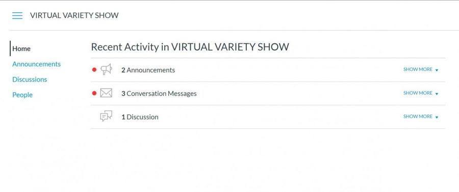 The+Variety+Show%27s+leadership+plans+to+use+Canvas+to+communicate+information+about+the+show.