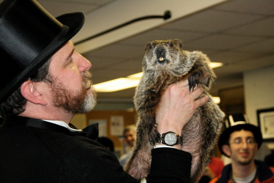 """Punxsutawney Phil Visit 010"" by pennstatenews is licensed under CC BY-NC 2.0"