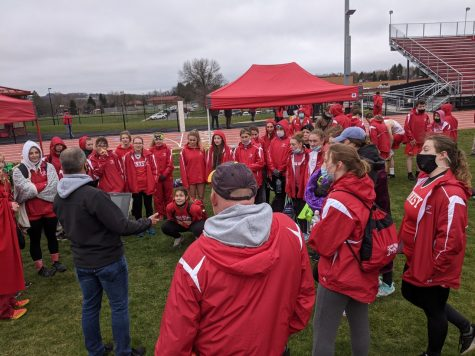 The girls track team after the meet.