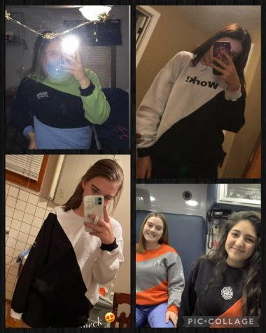 Some of Hanleys customers sent her pictures of them enjoying their new crewnecks.